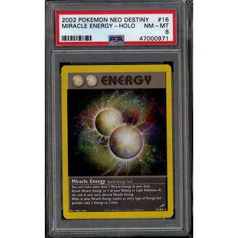 Pokemon Neo Destiny Miracle Energy 16/105 PSA 8