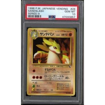 Pokemon Japanese Vending III Sandslash 28 PSA 10 GEM MINT
