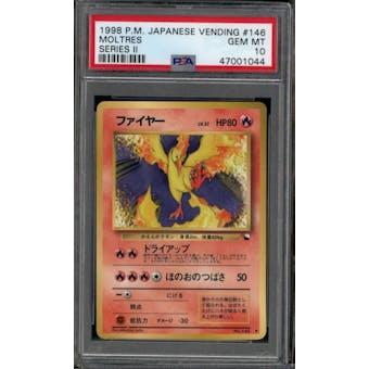 Pokemon Japanese Vending II Moltres 146 PSA 10 GEM MINT
