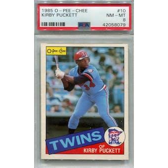 1985 O-Pee-Chee #10 Kirby Puckett RC PSA 8 *8079 (Reed Buy)