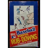 1984 Topps Rub-Downs Baseball Wax Box (Reed Buy)