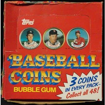 1987 Topps Coins Baseball Wax Box (Reed Buy)