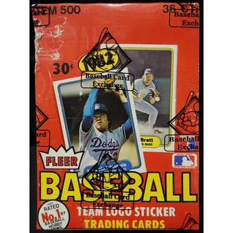 1982 Fleer Baseball Wax Box (BBCE) (FASC) (Reed Buy)