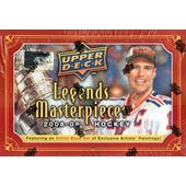 2008/09 Upper Deck Legends Masterpieces Hockey Hobby Box