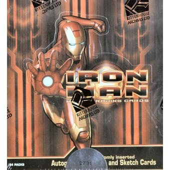 Iron Man Trading Cards Box (Rittenhouse 2008)