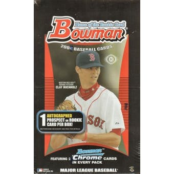 2008 Bowman Baseball Hobby Box