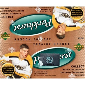 2006/07 Upper Deck Parkhurst Hockey 36 Pack Box