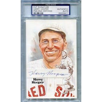 Harry Hooper Perez Steele Cut Signature Autograph PSA/DNA *3411 (Reed Buy)