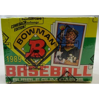 1989 Bowman Baseball Wax Box (BBCE) (FASC) (Reed Buy)