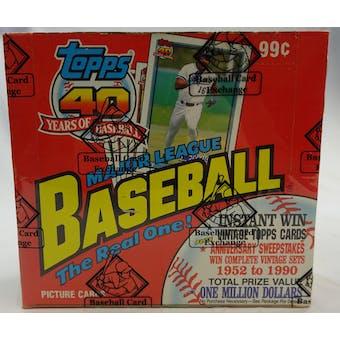 1991 Topps Baseball Cello Box (BBCE) (FASC) (Reed Buy)