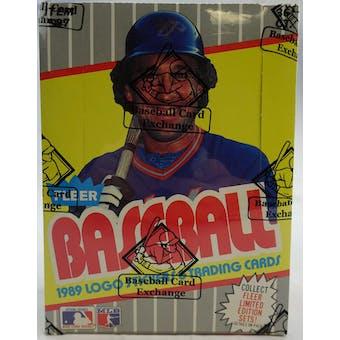 1989 Fleer Baseball Wax Box (BBCE) (FASC) 90262 (Reed Buy)