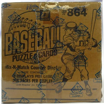 1986 Donruss Baseball Display Case Factory Sealed (BBCE) (Reed Buy)