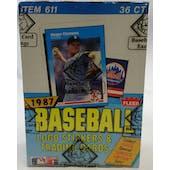 1987 Fleer Baseball Wax Box (BBCE) (Reed Buy)