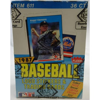 1987 Fleer Baseball Wax Box (BBCE) (Reed Buy)