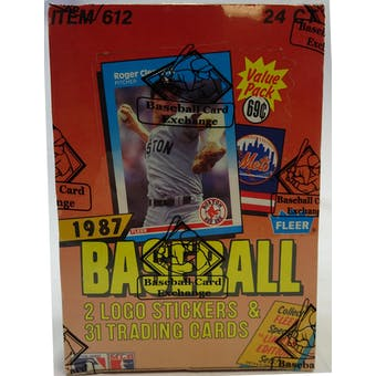 1987 Fleer Baseball Cello Box (BBCE) (Reed Buy)
