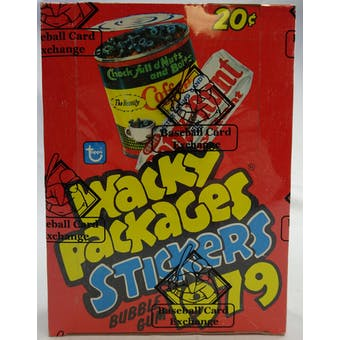 Wacky Packages Stickers 1st Series Wax Box (BBCE) (1979 Topps) (Reed Buy)