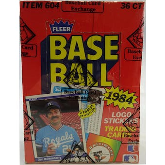 1984 Fleer Baseball Wax Box (BBCE) (Reed Buy)
