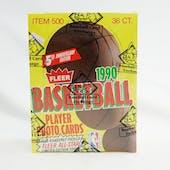 1990/91 Fleer Basketball Wax Box (BBCE) (FASC)