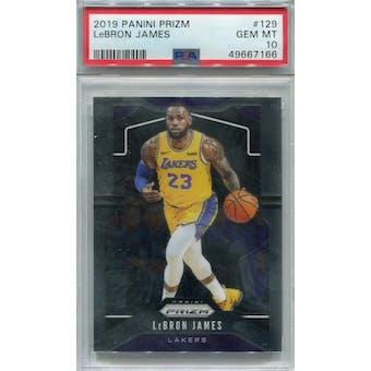 2019/20 Panini Prizm #129 LeBron James PSA 10 *7166 (Reed Buy)