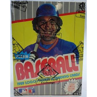 1989 Fleer Baseball Wax Box (BBCE) (Reed Buy)
