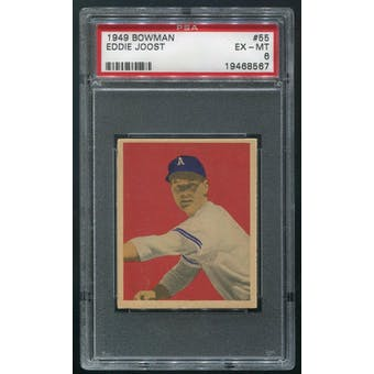 1949 Bowman Baseball #55 Eddie Joost PSA 6 (EX-MT)