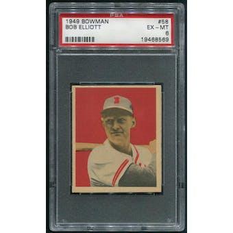 1949 Bowman Baseball #58 Bob Elliott PSA 6 (EX-MT)