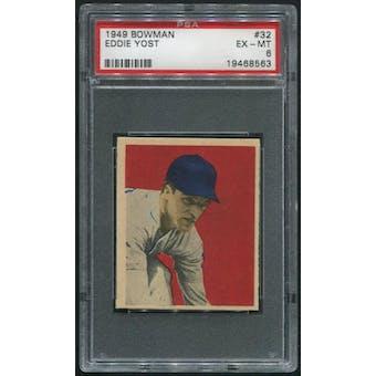 1949 Bowman Baseball #32 Eddie Yost Rookie PSA 6 (EX-MT)