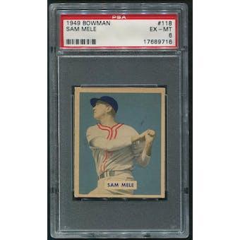 1949 Bowman Baseball #118 Sam Mele Rookie PSA 6 (EX-MT)