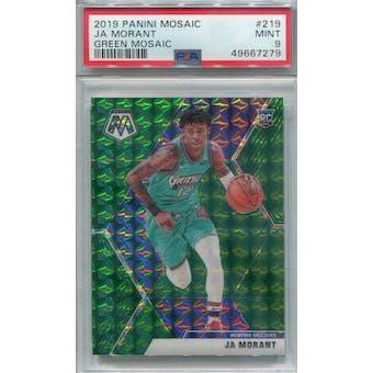 2019/20 Panini Mosaic Green Mosaic #219 Ja Morant PSA 9 *7279 (Reed Buy)