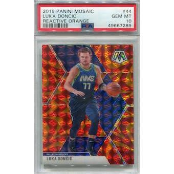 2019/20 Panini Mosaic Reactive Orange #44 Luka Doncic PSA 10 *7289 (Reed Buy)