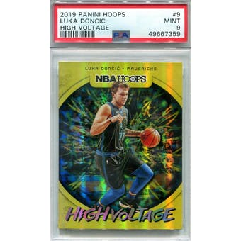 2019/20 Panini Hoops High Voltage #9 Luka Doncic PSA 9 *7359 (Reed Buy)