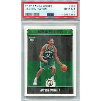 2017/18 Panini Hoops #253 Jayson Tatum RC PSA 10 *7363 (Reed Buy)