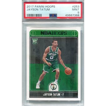 2017/18 Panini Hoops #253 Jayson Tatum RC PSA 9 *7368 (Reed Buy)