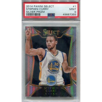 2014/15 Panini Select Silver Prizm #1 Stephen Curry PSA 9 *7355 (Reed Buy)
