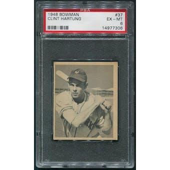 1948 Bowman Baseball #37 Clint Hartung Rookie PSA 6 (EX-MT)
