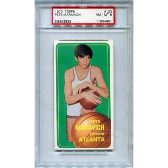 1970/71 Topps #123 Pete Maravich RC PSA 8 *4951 (Reed Buy)