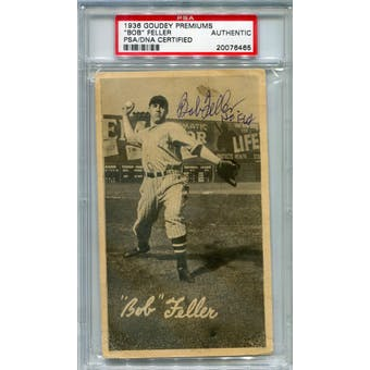 1936 Goudey Premiums Bob Feller (Pre-Rookie) Autograph PSA/DNA *6465 (Reed Buy)