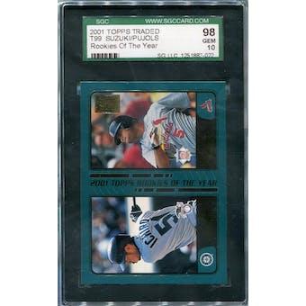 2001 Topps Traded #T99 Ichiro Suzuki/Albert Pujols ROY SGC 98 *7022 (Reed Buy)