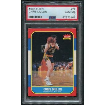 1986/87 Fleer Basketball #77 Chris Mullin Rookie PSA 10 (GEM MT)