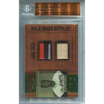 2004 Prime Cuts MLB Icons Material Combos Prime #MLB24 Frank Robinson Bat/Jersey #/25 (Reed Buy)
