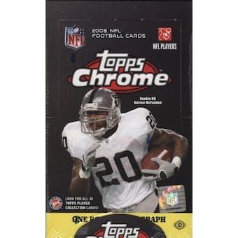 2008 Topps Chrome Football Hobby Box