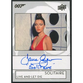 2019 James Bond Live And Let Die Jane Seymour as Solitaire Auto