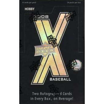 2008 Upper Deck X Baseball Hobby Box