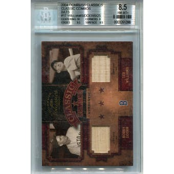 2004 Donruss Classics Classic Combos Bat #17 Ted Williams/Bobby Doerr #/25 BGS 8.5 *1398 (Reed Buy)
