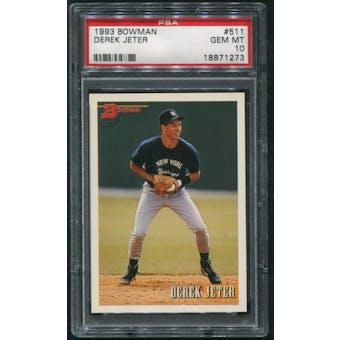 1993 Bowman Baseball #511 Derek Jeter Rookie PSA 10 (GEM MINT)