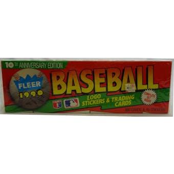 1990 Fleer Baseball Factory Set (Christmas) (Reed Buy)