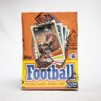 1988 Topps Football Wax Box (BBCE) (NON X-OUT)