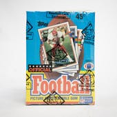 1989 Topps Football Wax Box (BBCE) (FASC)