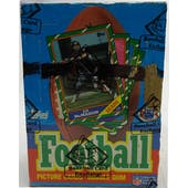 1986 Topps Football Wax Box (BBCE) (X-Out) (Reed Buy)