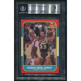 1986/87 Fleer Basketball #1 Kareem Abdul-Jabbar BGS 9 (MINT)